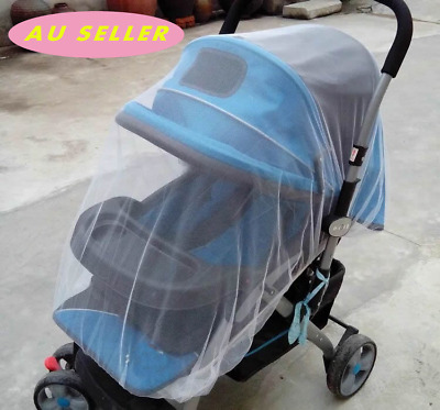 AU SELL Baby Pram Stroller Mosquito fly insect sun dust protect cover net mesh