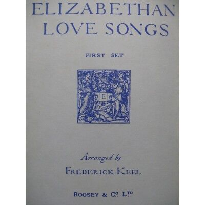 Elisabeth Love Songs Pieces 16th 17th century Singer Piano partition sheet music