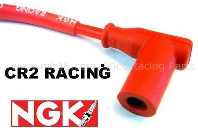 Antiparasite Ngk Cr2 Cable Coude Rouge Racing Bougie Filetee Moto Scooter