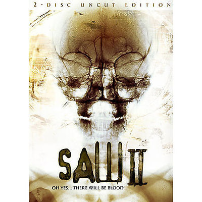 Saw ii (two-disc dvd uncut edition rare lenticular slipcover new.