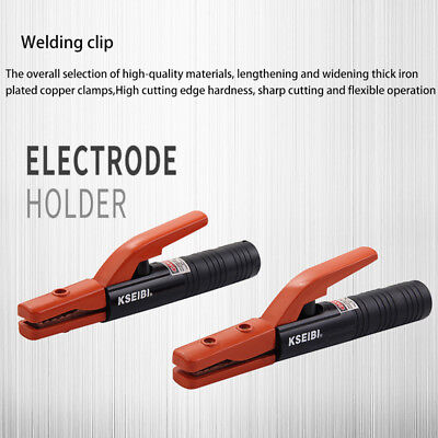 Electrode Holder Clamp Tong Style Welding Rod Insulated Jaw Arc Cooper Rod 300A