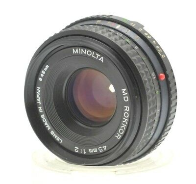 Minolta MD Rokkor 45mm F2 SLR Pancake Lens Converts to Digital