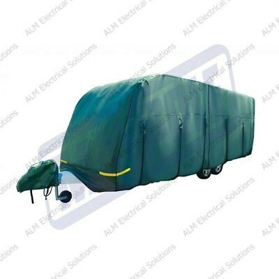 Maypole Premium Breathable Green 4-Ply Caravan Cover Fits Up to 23 - 25ft MP9536