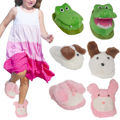 Plush House Slippers Kids Animal Womens Animated Moving Fun Fuzzy Cute Clogs
