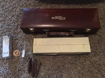 Vintage Pressman Tournament Rummikub With Carry Case Rummy Game W Free Shipping!