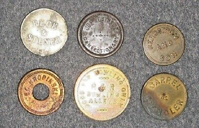 Group of Six US Maverick Tokens