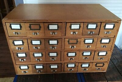 Vintage 24 Drawer Apothecary Chest, Cabinet