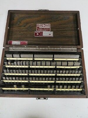 Starrett Webber - English 81 pc - Gage Block Set - Rect, Steel Grade 2 - NB39