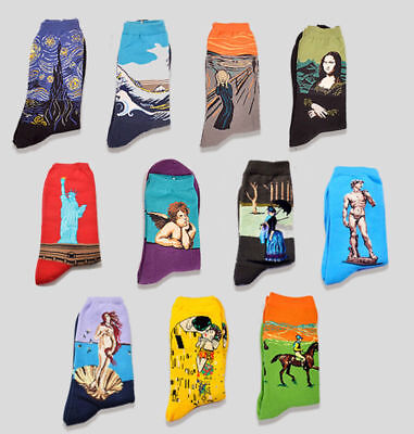 Famous Painting Socks Starry Night The Scream Venus Great Waves and More