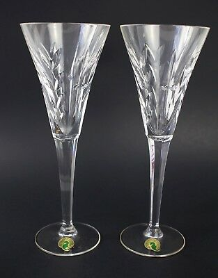 Pair of Waterford Crystal Toasting Champagne Flutes Made in Italy Crystal Glass
