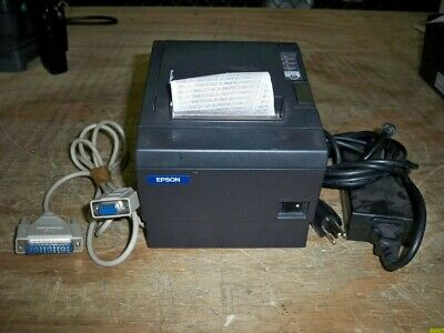Epson M129C TM-T88III POS Thermal Printer w/Cable/AC Adapter/TESTED