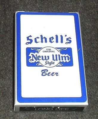 Deck of Schell's Beer Playing Cards, New Ulm Minnesota - Blue & White Deck