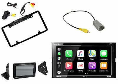 JVC Multimedia Radio, Metra Polaris Splash Guard, Backup Camera + Harness