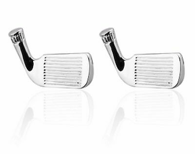 Gift Bag + Quality Golf Clubs Only cuff links Sports Silver Plated Cufflinks