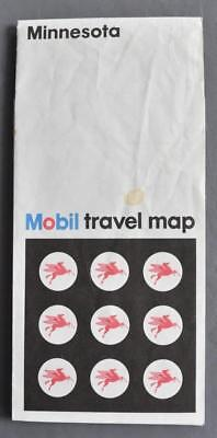 Vintage 1973 Mobil Travel Map Minnesota Minneapolis/St Paul/Duluth/Superior