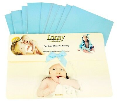 Baby Boys Scented Luxury Drawer Liners Ideal babies Shower Gift,     120gsm