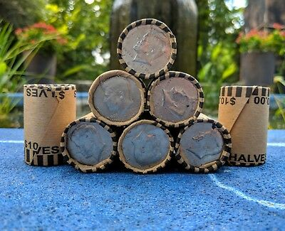 HALF DOLLAR COIN ROLL - Unsearched Bank Roll - Possible Silver Kennedy Franklin