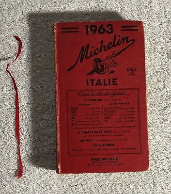 Michelin Guide Italie - Italy 1963