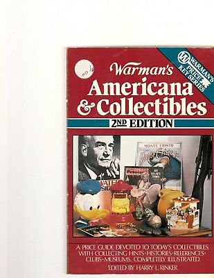 Warman's Americana and Collectibles (2nd Ed.) Rinker Price Guide Key