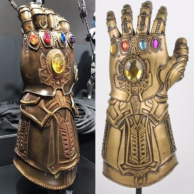 Deluxe Thanos Infinity Gauntlet Avengers Infinity Latex War Gloves/Thanos Mask