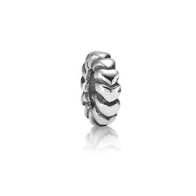 """Authentic Pandora """"Heart Row Spacer 790204"""" Retired - Sterling Silver ALE"""