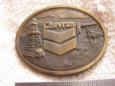 Vintage Chevron Belt Buckle Safety Award 1977