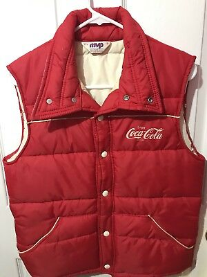 Vintage Coca Cola Employee Work Vest/Jacket Small Made in the USA