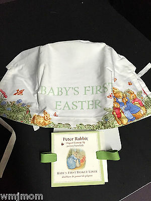 Pottery Barn Kids Baby First EASTER Peter Rabbit BASKET LINER Beatrix Potter NW