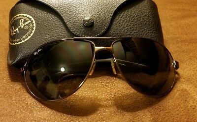 353ecf44d9 Ray Ban RB 3393 Sunglasses 014 73 Gunmetal Aviator Gray Pre-owned with Case