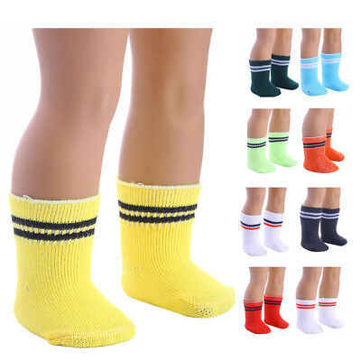 9 Colors Socks Doll Clothing Wear Fit 43cm Baby Dolls Clothing Accessories