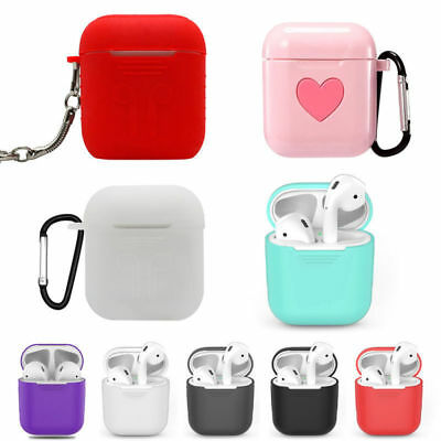 Silicone Airpods Protector Cover Headphone Case Slim For Apple AirPod Earphone