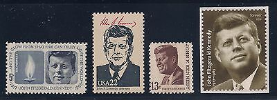 John F Kennedy Jfk - Complete Set Of 4 U.s. Postage Stamps - Mint Condition