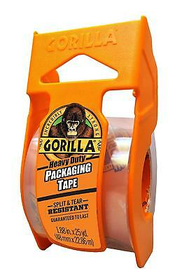 """Gorilla Heavy Duty Packing Tape with Dispenser, 1.88"""" x 25 yd, Clear"""