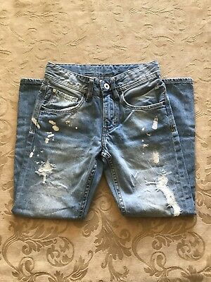 H&M Kids Denim Distress Relaxed Jeans Size 8-9Y