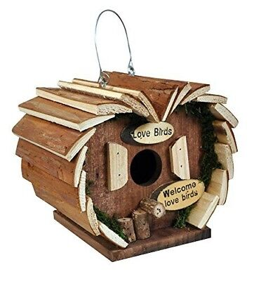 Hanging Wooden Bird Feeding Station for Variey of Birds. Ready Assembled.