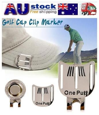 Golf Ball Marker Putting Training Alignment Aid Tool w/ Magnetic Hat Cap Clip