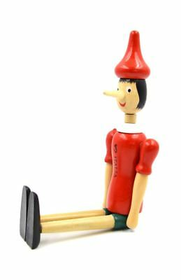 "10"" New Pinocchio Toy Figure Doll Wood Italy Articulate Puppet"