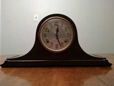 Plymouth Company-Seth Thomas 8-Day Keywound Tambour Style Mantel Clock (Z23B)