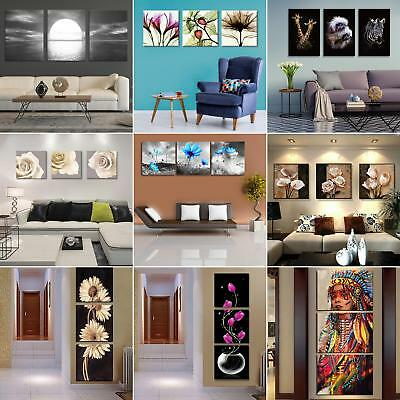 3Pcs Unframed Modern Art Canvas Oil Painting Picture Print Home Wall Decor Bling