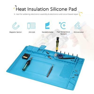 45×30cm Magnetic Heat Insulation Silicone Pad Mat for BGA Soldering Repair W7G9