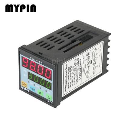 MYPIN 90-260V AC/DC Preset Digital LED Timer Countdown Meter Counter PNP NPN UK
