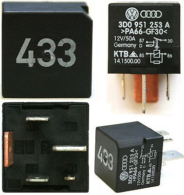 No 433 VW GOLF POLO TOUAREG STARTER CUT OFF RELAY AUDI SEAT SKODA 3D0 951 253 A