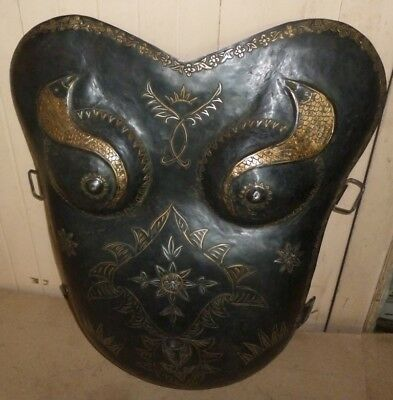 Rare Women Warrior Chest Plate Snakes Embossed & Engraved