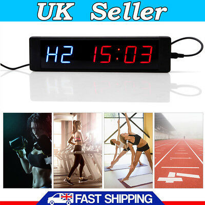 Programmable w/Remote Crossfit Interval Timer Wall Clock Tabata Fitness Training