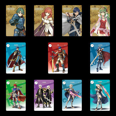 Fire Emblem Three Houses Warrior 11PCS PVC NFC Game Cards Tiki Chrom for Switch