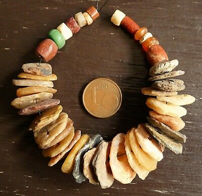 20mm Perles Ancien Afrique Sahara Ancient Neolithic Agate Carnelian Beads Africa