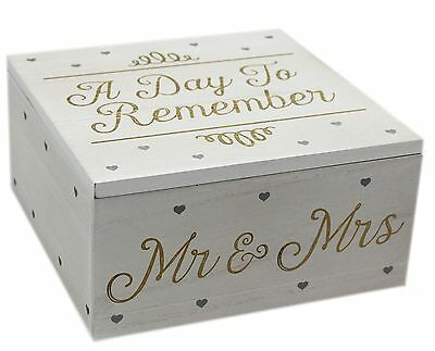 Wooden Wedding Keepsake Box ~ A Day To Remember