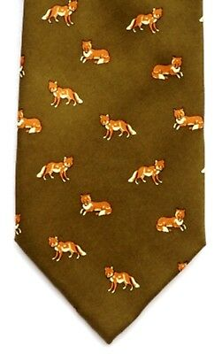 Fox Running Luxury Silk Tie Gift Ideal Hunting Gift