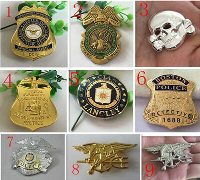 USA ARMY MILITARY POLICE skull US CIA  METAL INSIGNIA BADGE PIN Army Medal