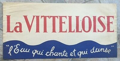 Ancien flyer chapeau publicitaire TOUR DE FRANCE LA VITELLOISE Eau qui chante *D